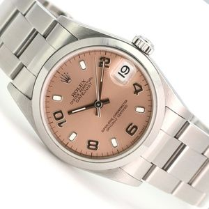 Rolex Datejust 78240 31mm Steel Pink Dial